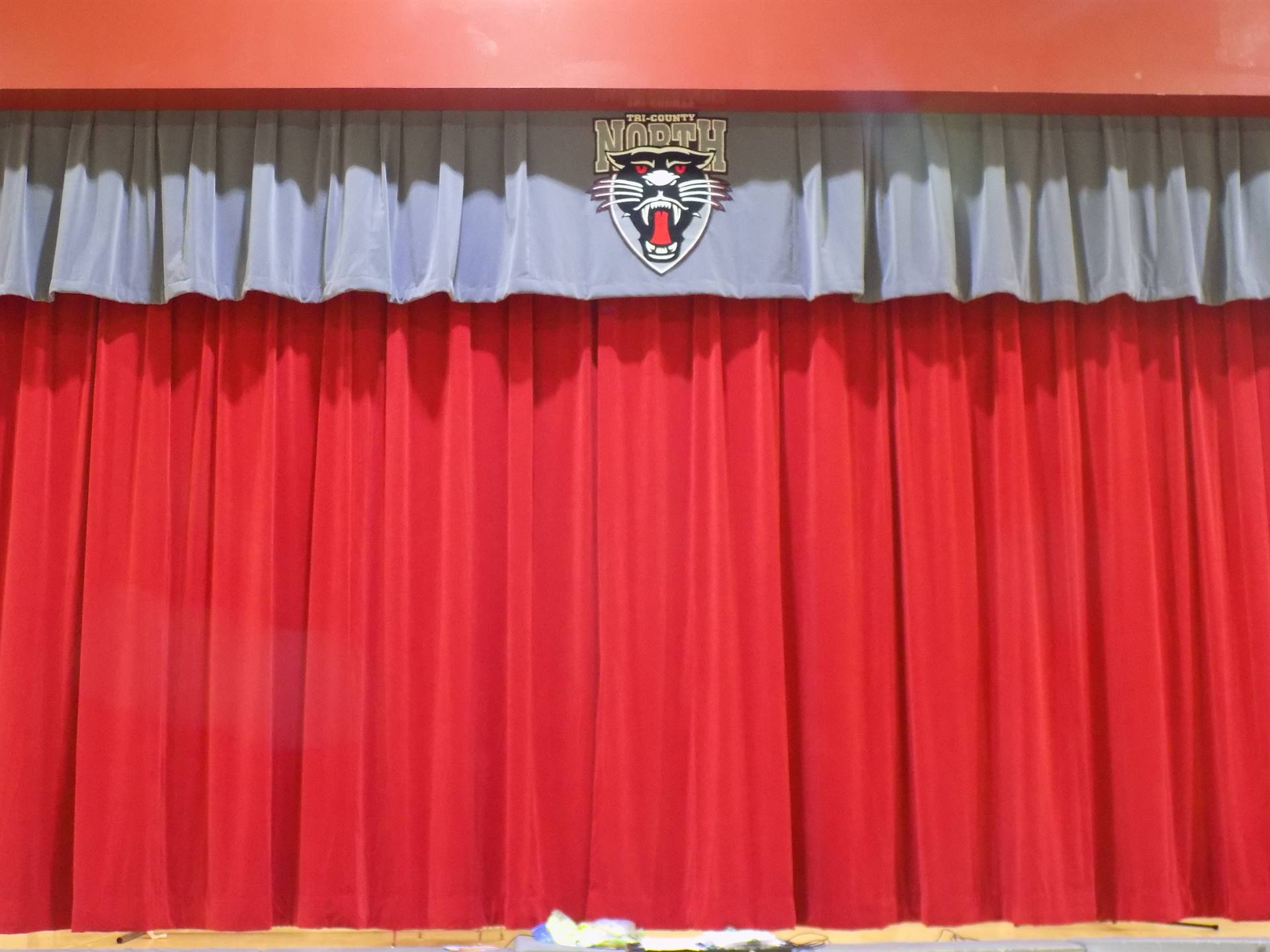 New Stage Curtains - Donated by TCNPTO!