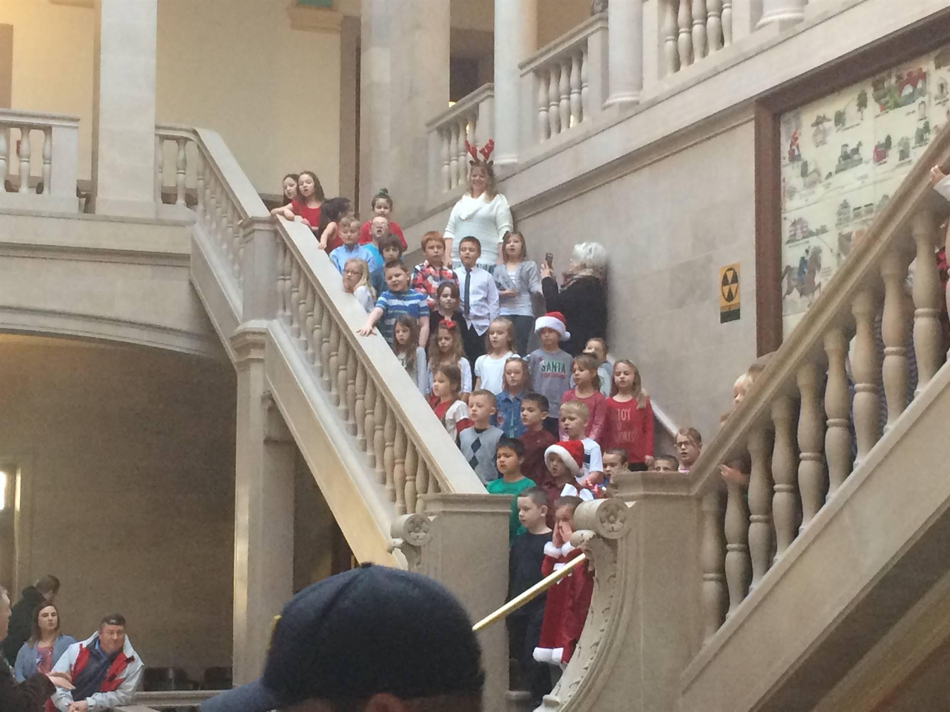1st Grade Singing Christmas Carols @  PC Courthouse