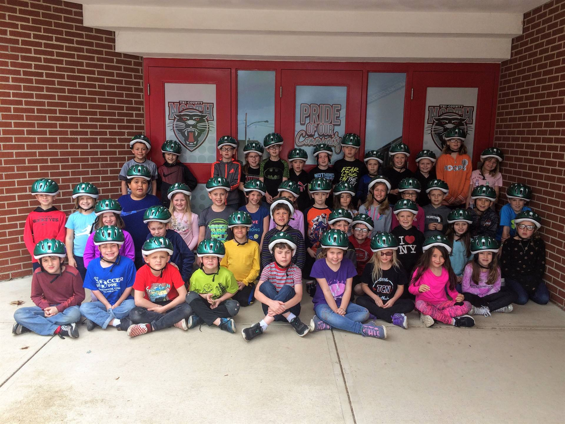Preble Trails Donated Helmets to 2nd Grade