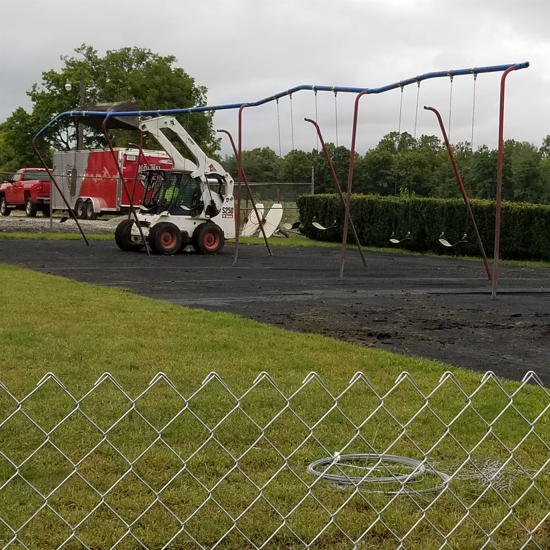 Playground Construction Begins